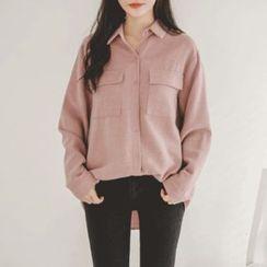 JUSTONE - Flap-Pocket Long-Sleeve Shirt