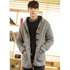 JOGUNSHOP - Toggle-Button Hood Cardigan