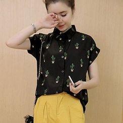 Fashion Street - Cactus Short Sleeve Shirt