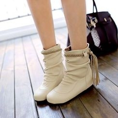 Shoes Galore - Tasseled Short Boots