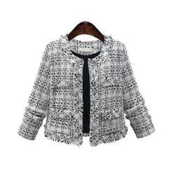 AGA - Plaid Tweed Jacket