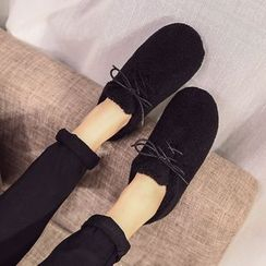 QQ Trend - Fleece Lace Up Shoes