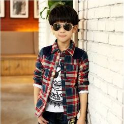 Lullaby - Kids Paneled Plaid Shirt