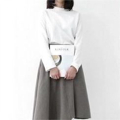 GLAM12 - Asymmetric-Hem T-Shirt