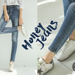 JUSTONE - Washed Elastic Skinny Jeans