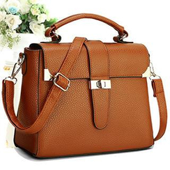 Rabbit Bag - Faux-Leather Twist-Lock Satchel