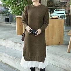 Tulander - 假两件针织连衣长裙