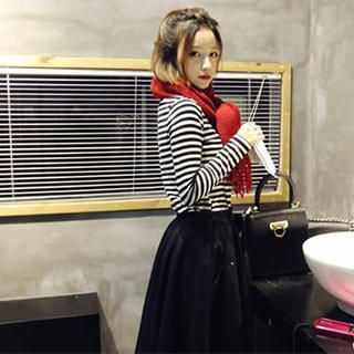 QZ Lady - Long-Sleeved Striped T-Shirt