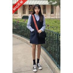 MICHYEORA - V-Neck Sleeveless Shift Dress