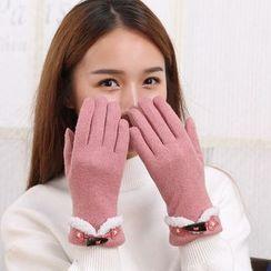 Rita Zita - Toggle Detail Touchscreen Gloves