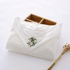 布丁坊 - 長袖刺繡襯衫