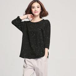 Jiuni - Floral Print T-shirt