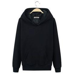 Champking - Fleece-Lined Plain Hooded Pullover