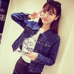 COBALT - Cropped Denim Jacket