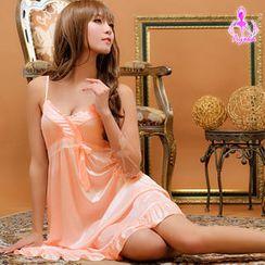 Ayoka - Ruffle-Hem Satin Night Dress
