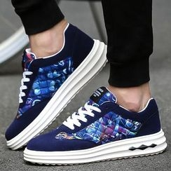 Komm - Print Canvas Sneakers