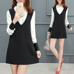 Romantica - 套装: 衬衫 + 背带连衣裙