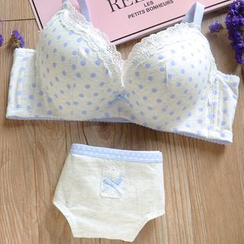 Aloysia - Set: Lace Trim Bra + Panties
