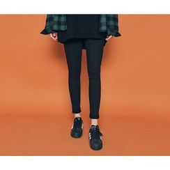 HOTPING - Band-Waist Skinny Pants