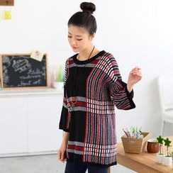 59 Seconds - Plaid Oversized Sweater