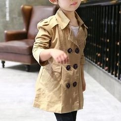 Matatabi - Kids Double-Breasted Trench Coat