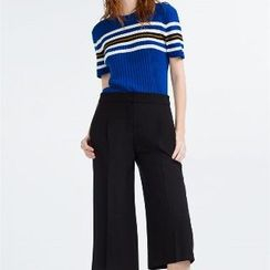 Eloqueen - Wide-Leg Cropped Pants