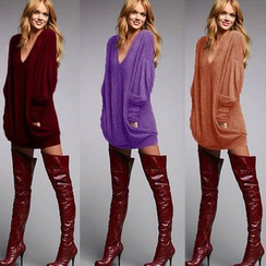 Fundae - V-Neck Long-Sleeve Tunic