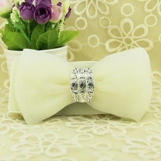 Cuteberry - Jeweled Bow-Accent Belt