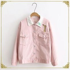 TOJI - Embroidered Button Jacket