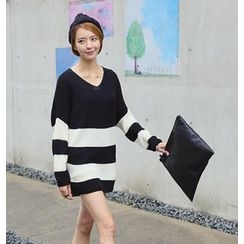 REDOPIN - Oversize Color-Block Sweater