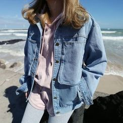 YUKISHU - Pocketed Denim Jacket