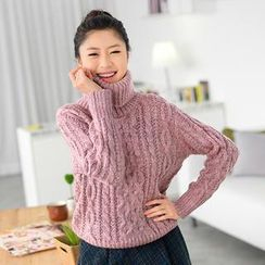 59 Seconds - Turtleneck Cable Knit Sweater