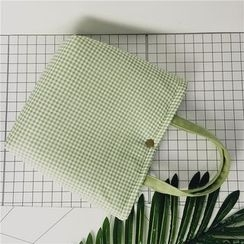 Ms Bean - Gingham Linen Cotton Tote Bag