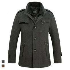Cipher - Stand Collar Woolen Coat