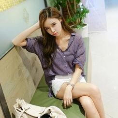 Koo - Peter Pan Collar Sheer Shirt