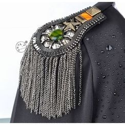 Trend Cool - Fringed Shoulder Brooch