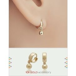 soo n soo - 10K Gold Dangle Earrings
