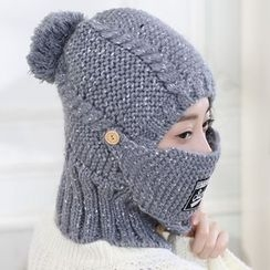 Pompabee - Cable Knit Beanie