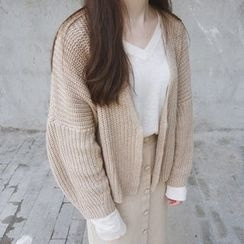 ANTEM - Plain Long Chunky Cardigan