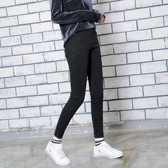 Sonne - 加厚加绒高弹力紧身裤