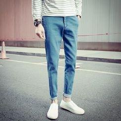 Maluda - 純色修身牛仔褲