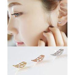 Miss21 Korea - Leaf Stud Earrings