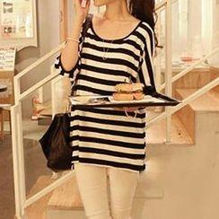 Dream Girl - Striped Batwing Sleeve T-Shirt