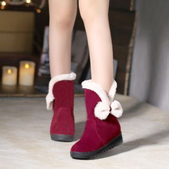 One100 - Platform Bow-Accent Short Boots