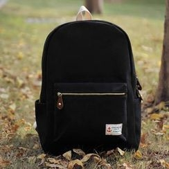 SUPER LOVER - Appliqué Canvas Backpack