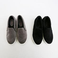 NANING9 - Faux-Fur Slip-Ons