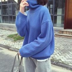 Dute - High Neck Oversized Sweater