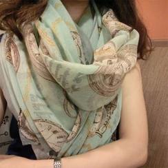 永永魅力 - 印花薄圍巾