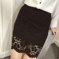 Cobogarden - Lace Panel Skirt