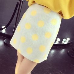 RUI - Dotted Knit Skirt